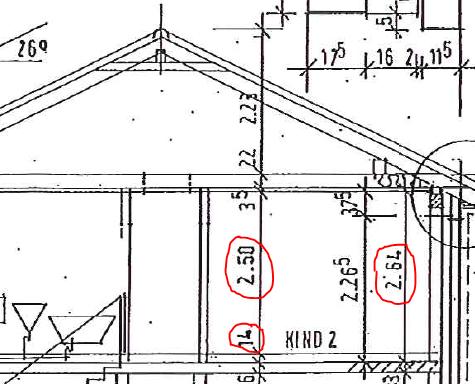 Konstruktionszeichnung Deckenhöhe